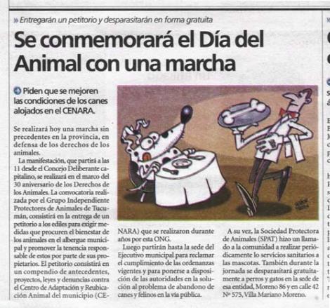Artículo de El Tribuno de Tucumán
